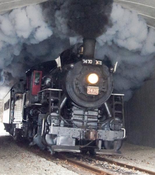 Train Through The Tunnel